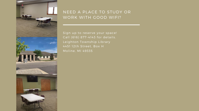 Study Room Available